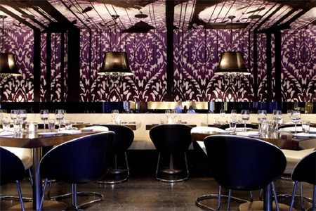 Dining room at STK, West Hollywood, CA