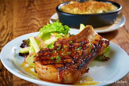 Celebrate Father's Day in the Dallas and Fort Worth area with a special meal at Sugarbacon Proper Kitchen
