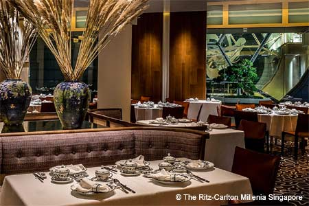 Summer Pavilion restaurant in Singapore serves refined Cantonese cuisine