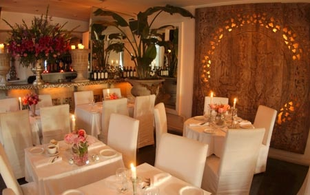Dining room at SUR Restaurant & Lounge, West Hollywood, CA