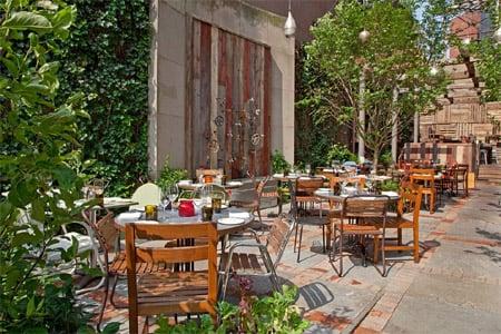 Enjoy a meal on the patio of Talula's Garden in Philadelphia
