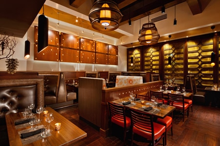 Dining room at Tamarind of London, Newport Beach, CA
