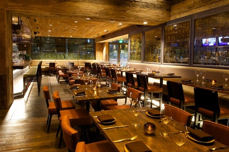 Dining Room at Tanzy Restaurant, Los Angeles, CA