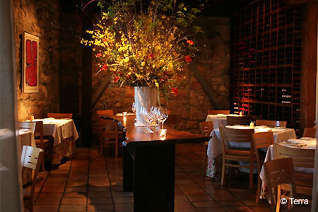 Dining Room at Terra, St. Helena, CA