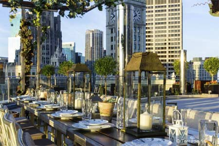 Terrace 16 has opened at Trump International Hotel & Tower Chicago