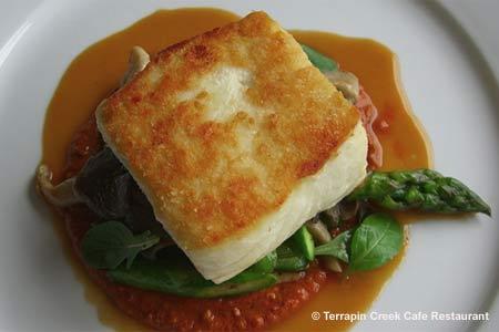 Dining Room at Terrapin Creek Cafe Restaurant, Bodega Bay, CA