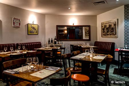 Dining Room at Terroirs Wine Bar & Restaurant, London,