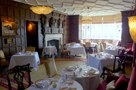 Modern British fare is featured at The Beaufort Dining Room, the more formal dining option at Ellenborough Park.