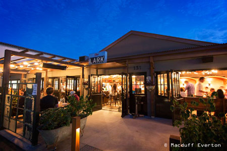 The Lark restaurant serves seasonally inspired fare in Santa Barbara's trendy Funk Zone