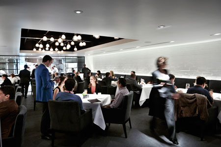 Dining room at The Pass, Houston, TX