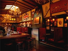 Dining room at The Pikey, Los Angeles, CA