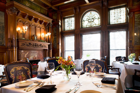 Dining room at The Whitney, Detroit, MI