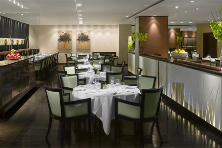 Dining room at Theo Randall at the InterContinental, London, UK