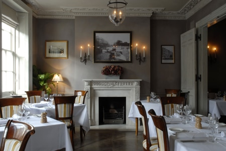 Dining room at Thomas Cubitt, London, UK