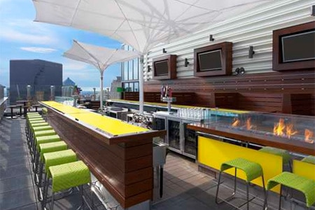 Enjoy striking downtown views and American cuisine at Three Sixty restaurant in St. Louis