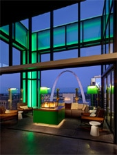 Dining room at Three Sixty, St. Louis, MO