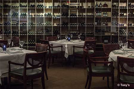 Tony's restaurant has one of the best wine lists in St. Louis