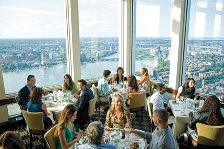 Boasting views of Boston from 52 floors up, The Top of the Hub is a popular special occasion spot