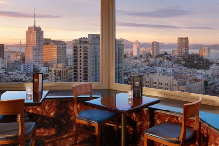 Dining room at Top of the Mark, San Francisco, CA