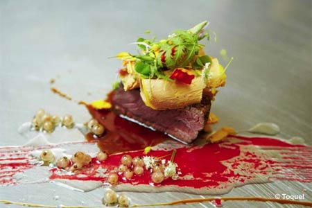 Celebrate Valentine's Day with the special menu at Toque! restaurant in Montreal