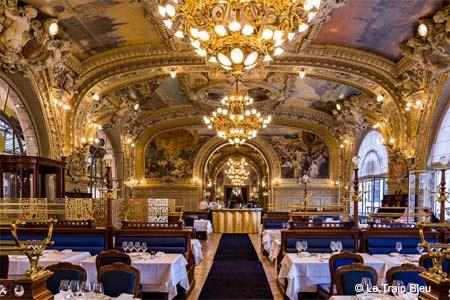 Dining Room at Le Train Bleu, Paris,