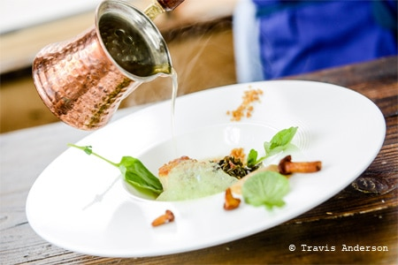 Creative tasting menus are presented at Travail Kitchen and Amusements north of Minneapolis