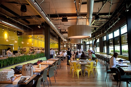 Dining room at True Food Kitchen, Santa Monica, CA