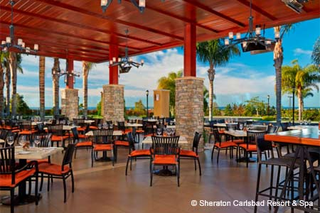 This casual wine bar/restaurant at The Westin Carlsbad Resort & Spa offers an eclectic menu.