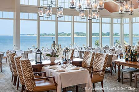 With its waterfront views, Twenty-eight Atlantic is one of GAYOT's Best Romantic Restaurants in Cape Cod