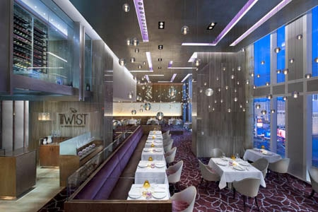 The dining room at Twist by Pierre Gagnaire in Las Vegas, Nevada