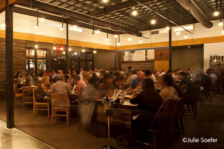 Dining room at Underbelly, Houston, TX
