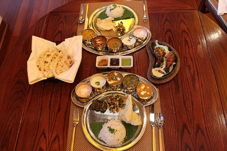 Indian cuisine at Urban Spice, one of GAYOT's Top 10 Indian Restaurants in Atlanta, Georgia