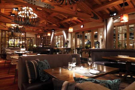 Dining Room at Veladora, Rancho Santa Fe, CA