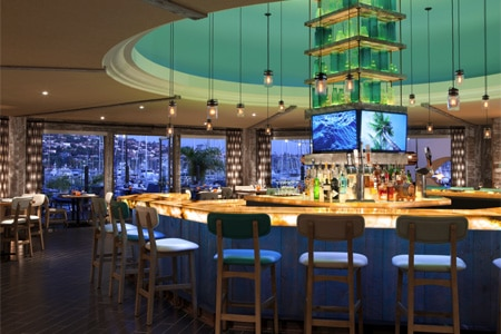 Dining Room at Vessel Restaurant, San Diego, CA