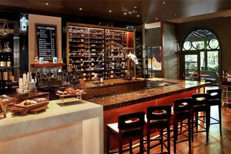 The bar area at Culina Modern Italian has been transformed into Vinoteca