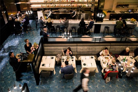 Volta is a French-Scandinavian brasserie at the Westfield San Francisco Centre