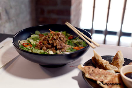 London's popular noodle restaurant Wagamama has come to NYC