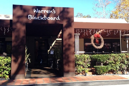Dining room at Warren's Blackboard, North Hollywood, CA