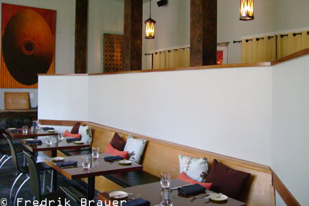 Dining room at Woodfire Grill, Atlanta, GA