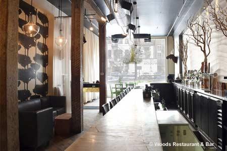 Woods Restaurant & Bar, Toronto, canada