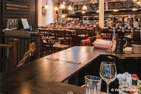 Dining Room at Wright Brothers Oyster & Porter House, London,