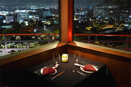 Dining room at Yamashiro, Hollywood, CA