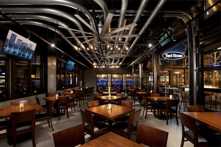 Dining room at Yard House, Boston, MA