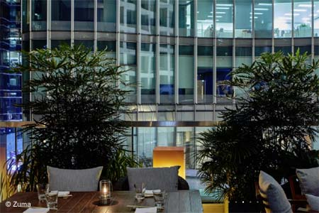 Zuma is one of GAYOT's Best Outdoor Dining Restaurants in Hong Kong