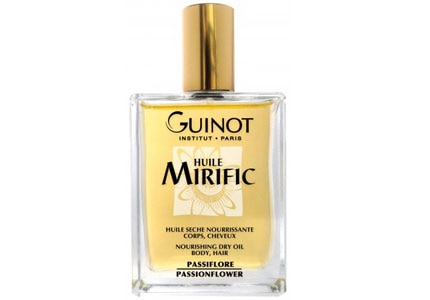 Guinot's Huile Mirific, one of GAYOT's featured bath and body products