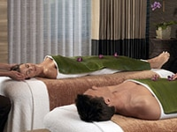 A couple enjoys a treatment at Caesars Atlantic City Hotel-Casino