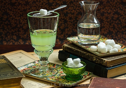 Absinthe is a 150 proof liquor based on anise, fennel, and wormwood