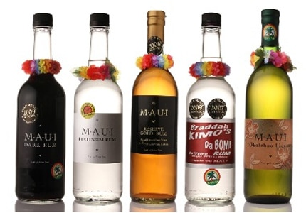 A selection of Maui rums