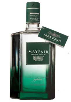 Mayfair London Dry Gin is made from a 300-year-old family-owned distillery