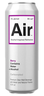 Air is a new malt beverage that tastes mostly just like sparkling water